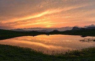 'Dipsiz Göl'de gün batımı